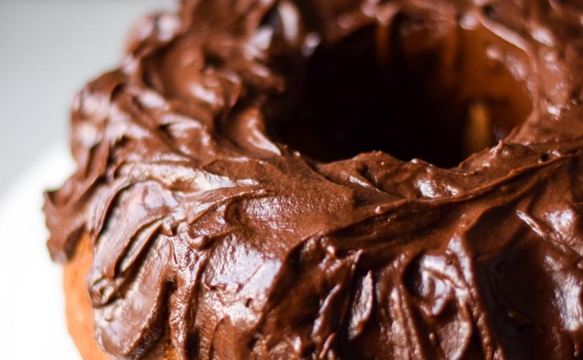 Coffee Cake with Chocolate GanacheFrosting