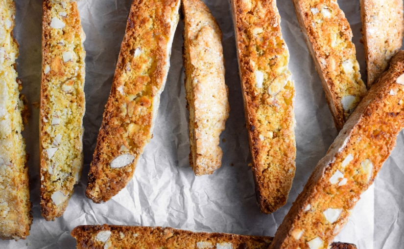 White Chocolate & Almond Biscotti